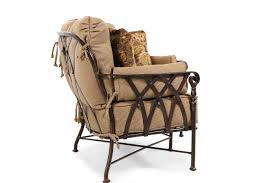 Veranda Metal Patio Loveseat Glider by Castelle Veranda Crescent Loveseat Mathis Brothers Furniture