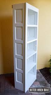 Diy Bookcase Door Repurposed Door Storage Unit Door Bookshelf U2022 Better When Built