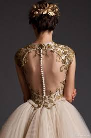 gold wedding dresses 23 fabulous gold wedding dresses weddingomania weddbook