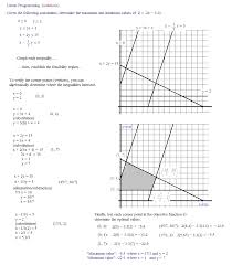Solve And Graph The Inequalities Worksheet Linear Programming Word Problems Worksheet Worksheets