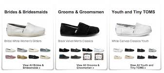 wedding shoes toms toms shoes wedding collection help a child in need the special day