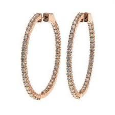 hoop diamond earrings diamond earrings hsn