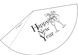 happy new year party hat coloring page