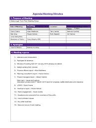 Sample Meeting Notes Template by Project Meeting Minutes Template 9 Free Templates In Pdf Word