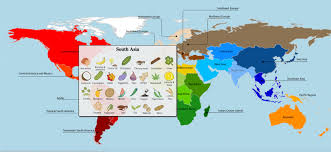 South Central Asia Map by A Map Of Where Your Food Originated May Surprise You Wskg