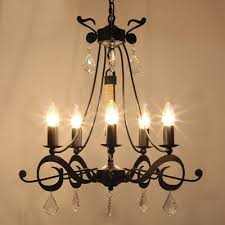 Iron Chandelier With Crystals Fashion Style Chandeliers Crystal Lights Beautifulhalo Com