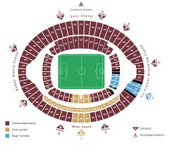 seating plan west ham united
