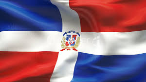 Domenican Flag Textured Dominican Republic Cotton Flag With Wrinkles And Seams