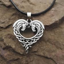 metal heart necklace images Celtic horse heart bronze pendant necklace survive the trench jpg