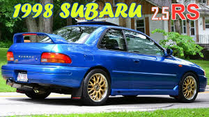 blue subaru gold rims 1998 subaru impreza 2 5rs coupe 5 speed awd 27th youtube