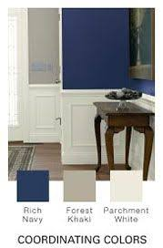 rich navy by glidden for the dining room colors bleed into the