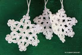 crochet snowflake pattern tree ornament diy