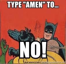 Robin Meme Generator - type amen to no batman slap robin meme generator