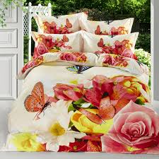 Girls Bedding Queen Size by Bright Color Butterfly 3d Flower Girls Bedding Queen Size Colorful