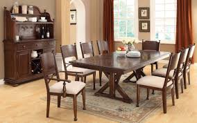 cm3558t descanso dining table in brown cherry w options