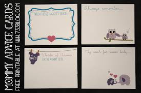 to be advice cards baby shower inspiration made simple