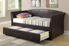 daybed images amazon com daybed with trundle in espresso faux leather by poundex