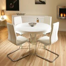 Glass Round Kitchen Table White Round Dining Table Interior Design