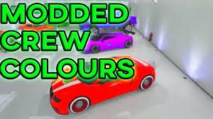 gta 5 paint jobs rare paint jobs online modded rgb crew colour