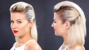 photo of the back of hair with a short bob slicked back hair for short hair tutorial milabu youtube