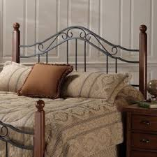 Wood And Wrought Iron Headboards Black Wrought Iron Headboard Queen Foter