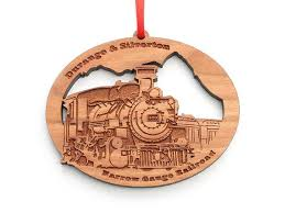 durango silverton custom engine ornament nestled pines