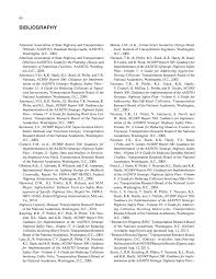bibliography recent roadway geometric design research for
