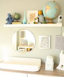 Wall Changing Tables For Babies by Mirror In Front Of Change Table Diaper Holder And Globes
