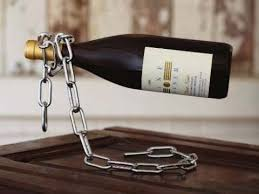 chain wine bottle holder magic chain wine holder