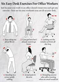 Desk Exercises At Work Six Easy Desk Exercises For Office Workers Scoopnest Com
