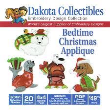 christmas applique dakota collectibles bedtime christmas applique embroidery design cd