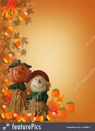 free halloween background border images halloween halloween border pumpkin scarecrow stock illustration
