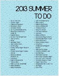 mom mart summer to do list 2013 printable