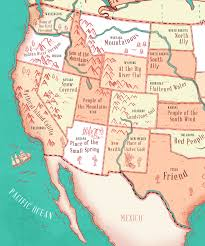 this map reveals the meaning of each of the 50 state names thechive