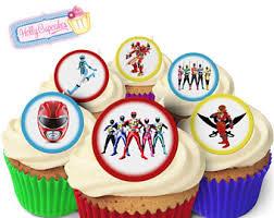 power rangers cake toppers power ranger cupcake topper etsy