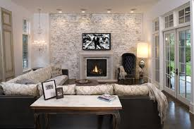 Minneapolis Painting Brick Walls Family Room Mediterranean With - Painting family room