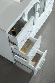 design element bathroom vanities stanton 48 inch white finish bathroom vanity set