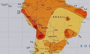 map of south america solar insolation map south america alte