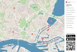 Hamburg Germany Map by Hamburg Printable Tourist Map Sygic Travel
