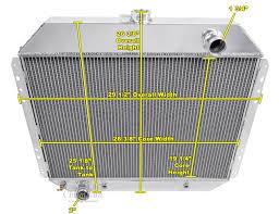 ford f 250 trucks radiator aluminum 4 row champion shroud u0026 2 12