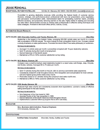 Resort Manager Resume Writing A Clear Auto Sales Resume