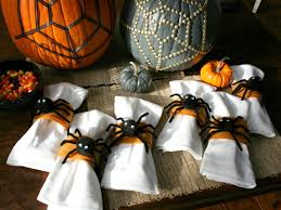 how to make spider napkin rings hgtv halloween decorating ideas