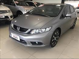 Famosos Honda Civic LXR 2.0 16V Cinza 2014/2015 - Loocalizei Veículos #MQ03