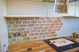 backsplash simple faux brick tile backsplash home design ideas