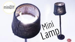Diy Mini Desk Lamp Diy Miniature Lamp Actually Works Dollhouse Minidiy