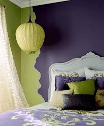 purple and green bedroom decorating ideas slab wingback and built