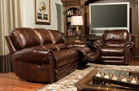 Brown Leather Reclining Sofa by Thor Top Grain Leather Reclining Sofa Collection Furniture And