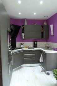 deco cuisine violet aménagement cuisine violet