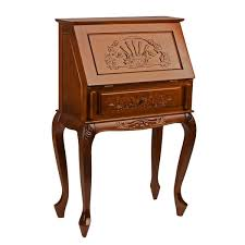 Secretary Style Desks International Caravan Windsor Hand Carved Secretary Desk Free