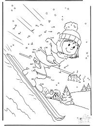 drawing ski winter sports